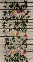 6ft Flower Garland [Small Rose] - Assorted colors